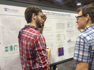 Alex Amlie Wolf, PhD candidate in the Genomics and Computational Biology graduate group at the University of Pennsylvania, presenting his poster at the AAIC.
