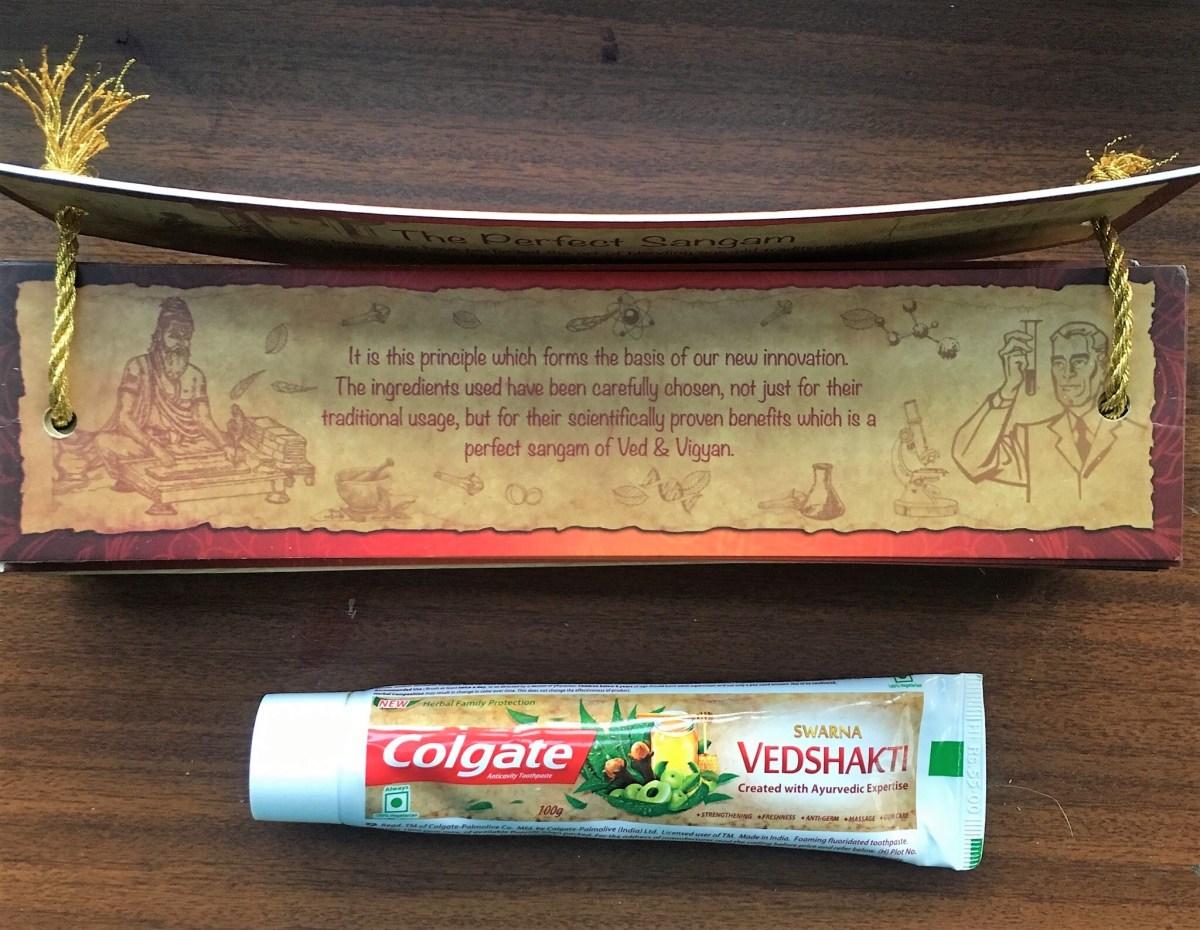 colgate vedshakti toothpaste