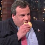 Chris Christie eats a donut, proves Mitt Romney right.