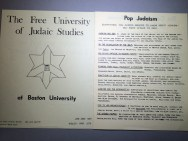 Jewish Free University courses became popular at many colleges and universities in the early 1970s