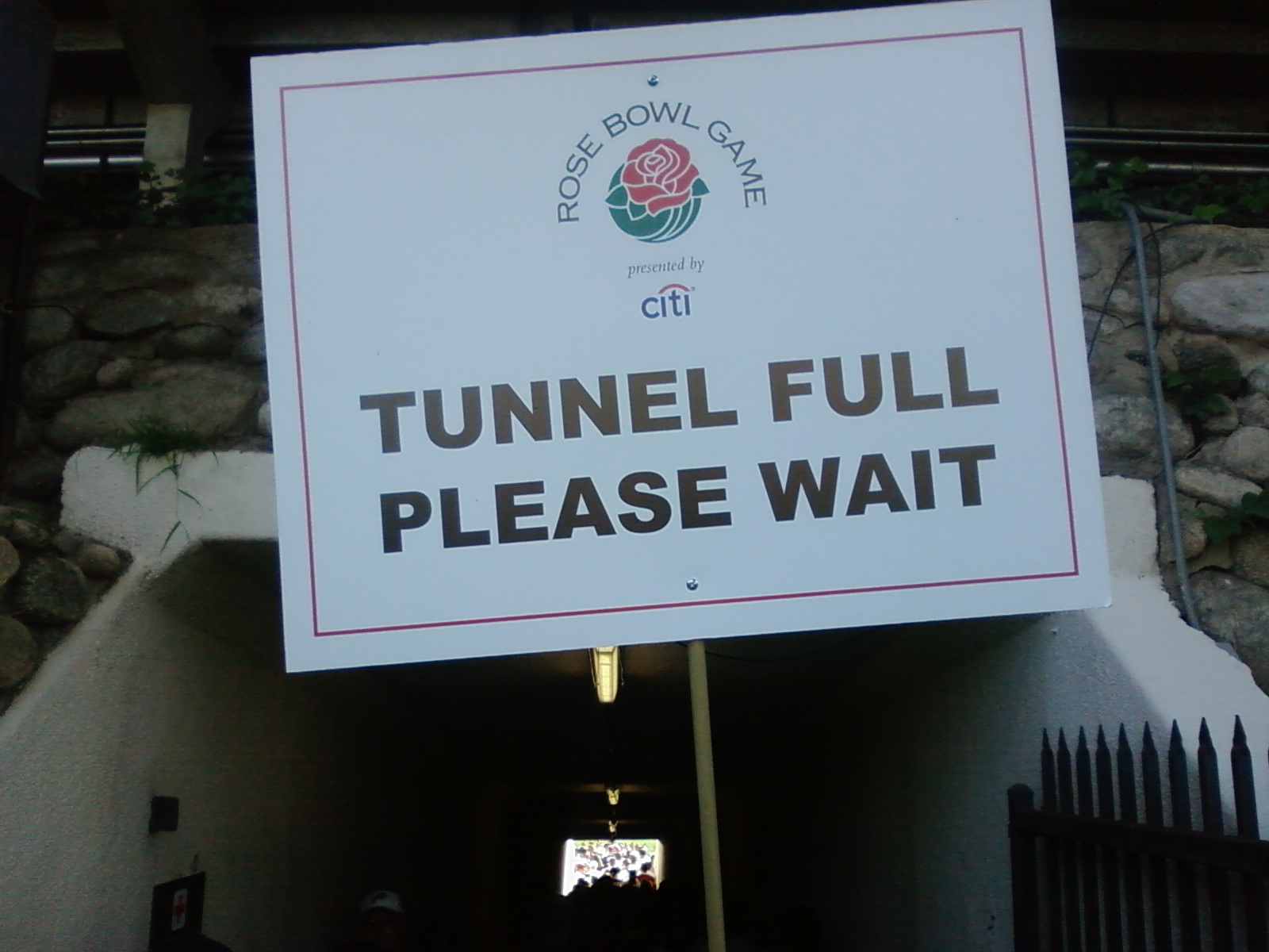 Yes, we booed the tunnel.