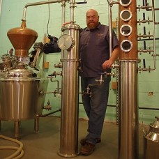 Dean Browne at his Frankford Avenue distillery