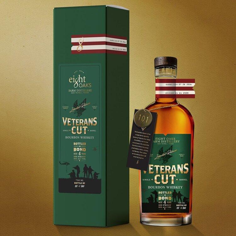 8 Oaks Veterans Cut Bourbon whiskey