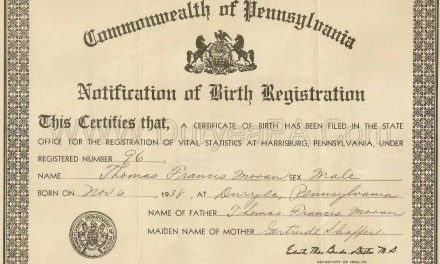 1893-1906 Birth Index for Chester County Pennsylvania