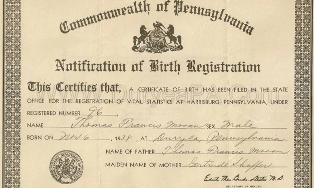 1857-1906 Delayed Birth Index for Chester County Pennsylvania