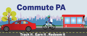 Commute PA encourages you to track, earn and redeem rewards. Visit www.commutepa.agilemile.com/