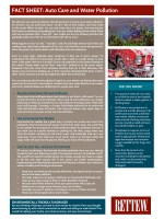 Rettew Fact Sheet: Auto Care and Water Pollution