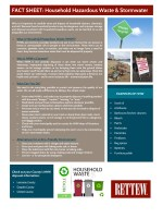 Rettew Fact Sheet: Household Hazardous Waste and Stormwater