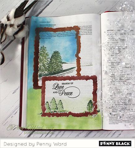 Penny On Penny Bible Journaling The Penny Black Blog