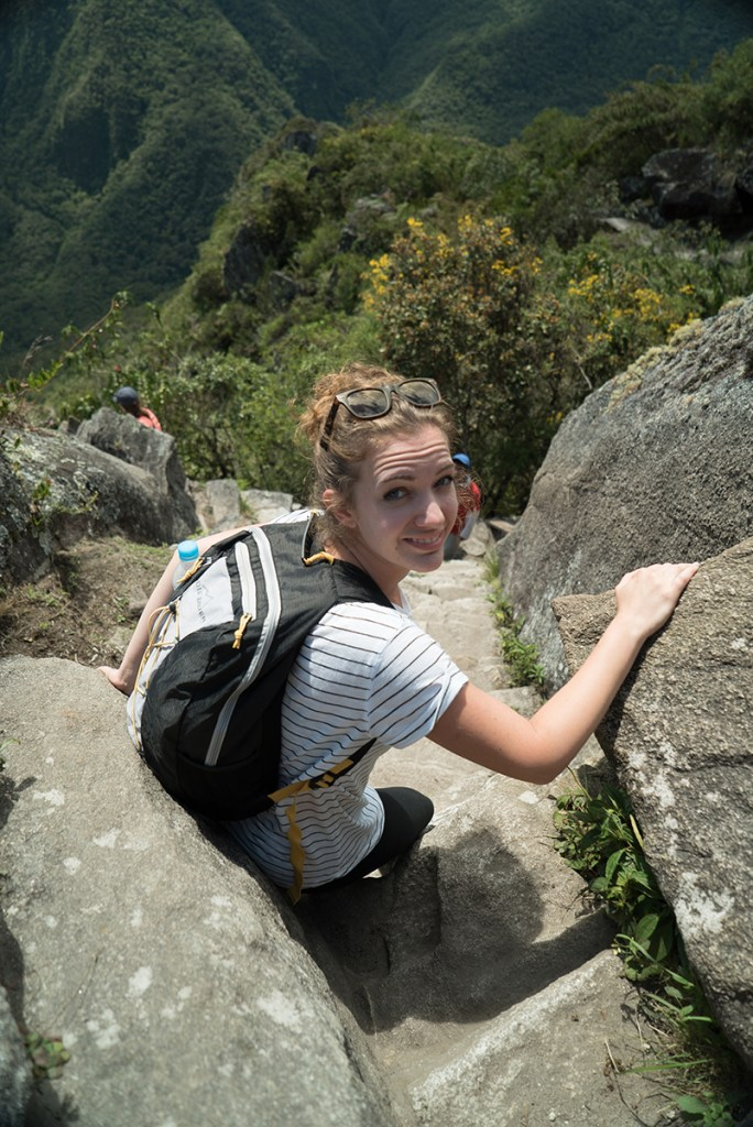 Really steep and slippery path down Huaynapicchu.