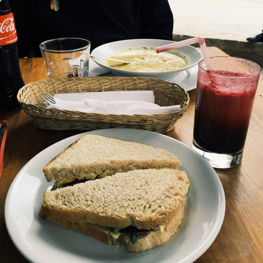 Avocado sandwich at Hearts Cafe.