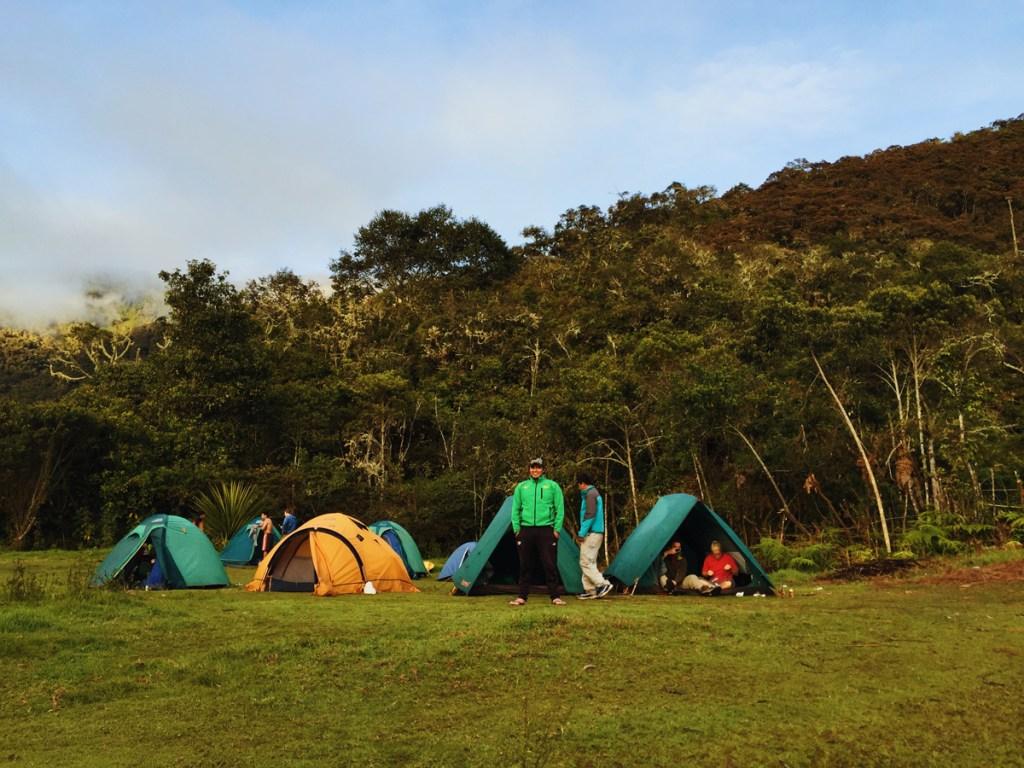 Campsite at Llactapata.