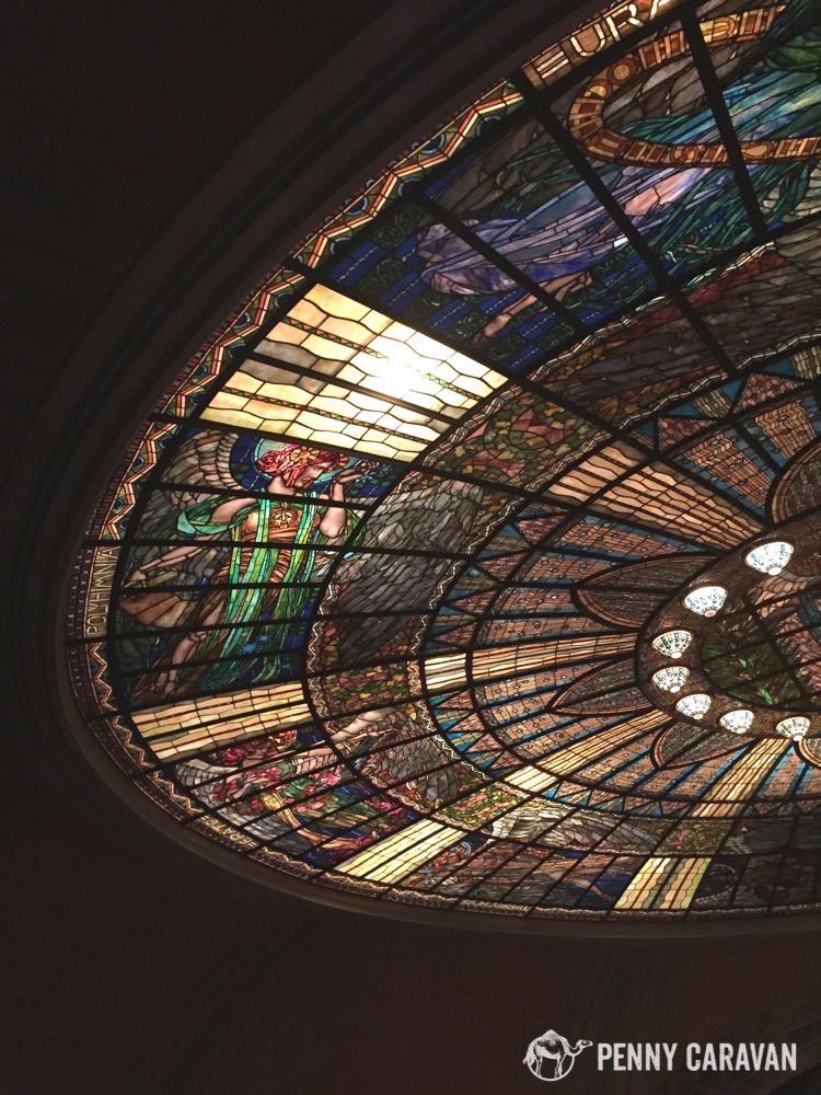 Ceiling at the Palacio de Bellas Artes.