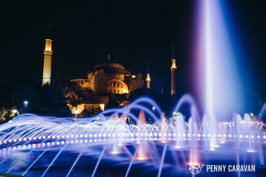 The fountain in front of the Hagia Sophia makes for some beautiful photos!
