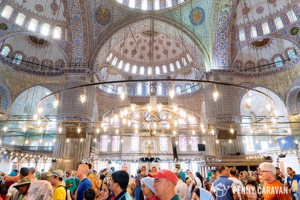 The Blue Mosque gets very crowded!