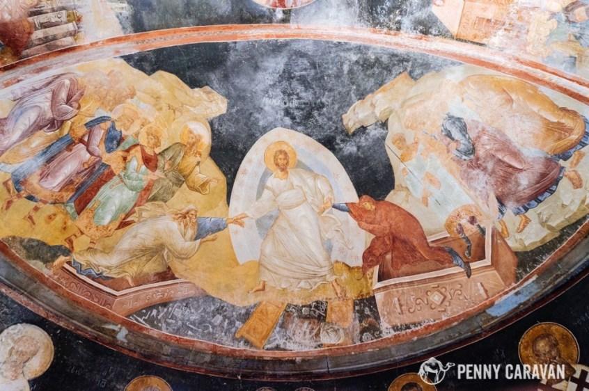 The Resurrection Fresco.
