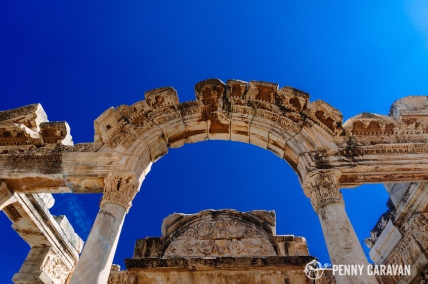 The Temple of Hadrian has also had its facade rebuilt from surviving pieces.