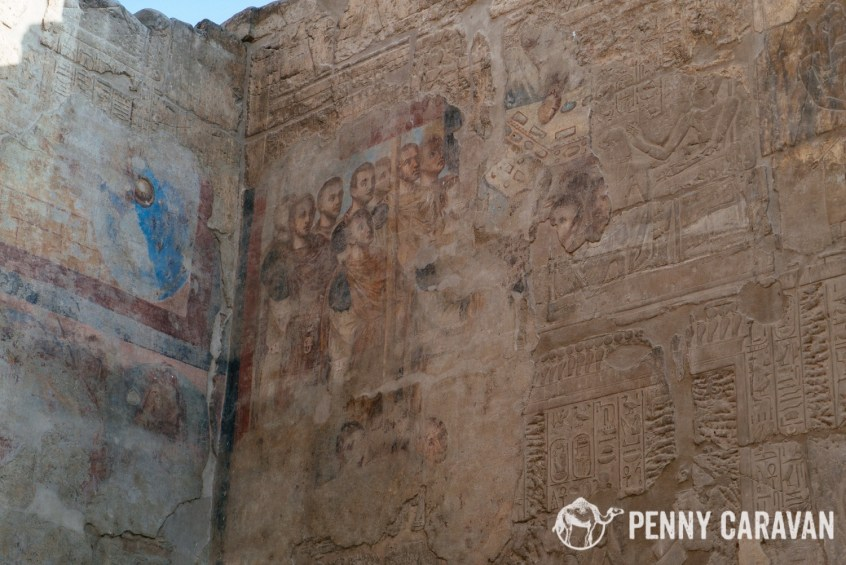 The Christian frescoes.