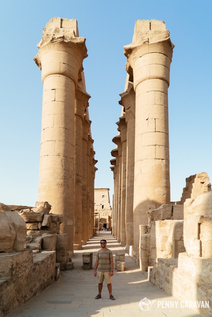 The colonnade of Amenhotep III.