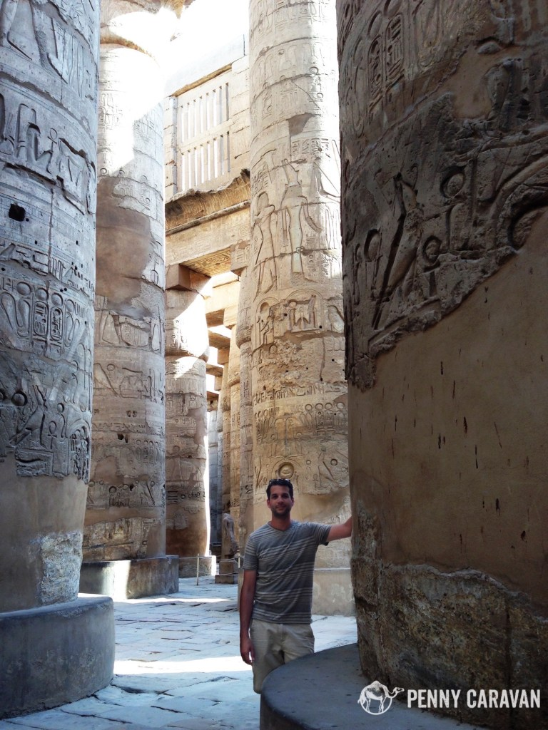 Shane in the hypostyle hall.