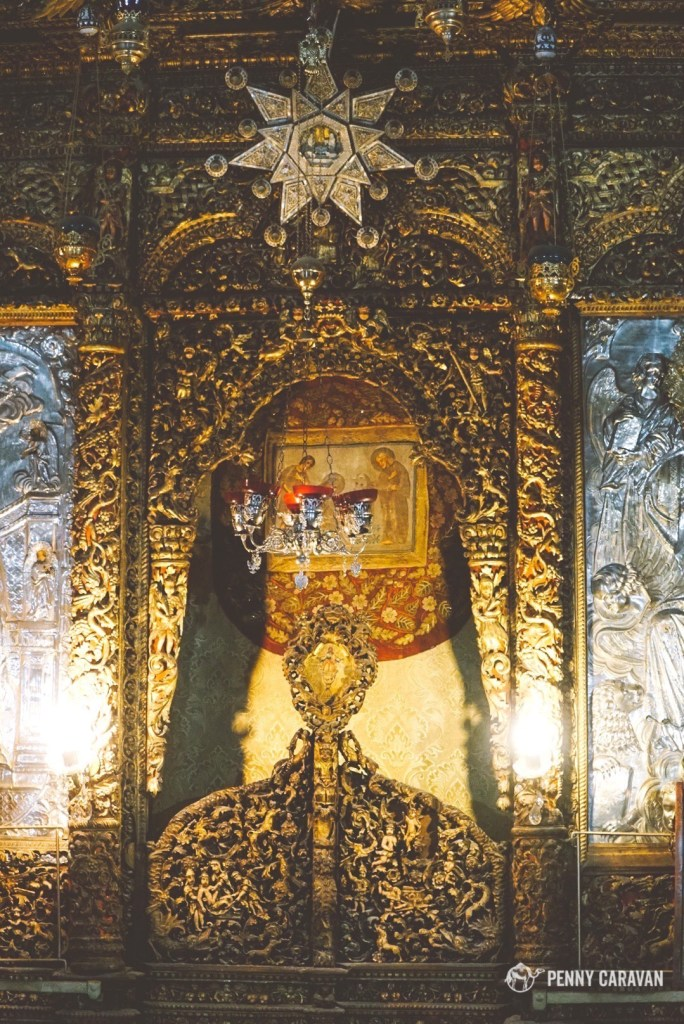 The altar of the Church of the Nativity.