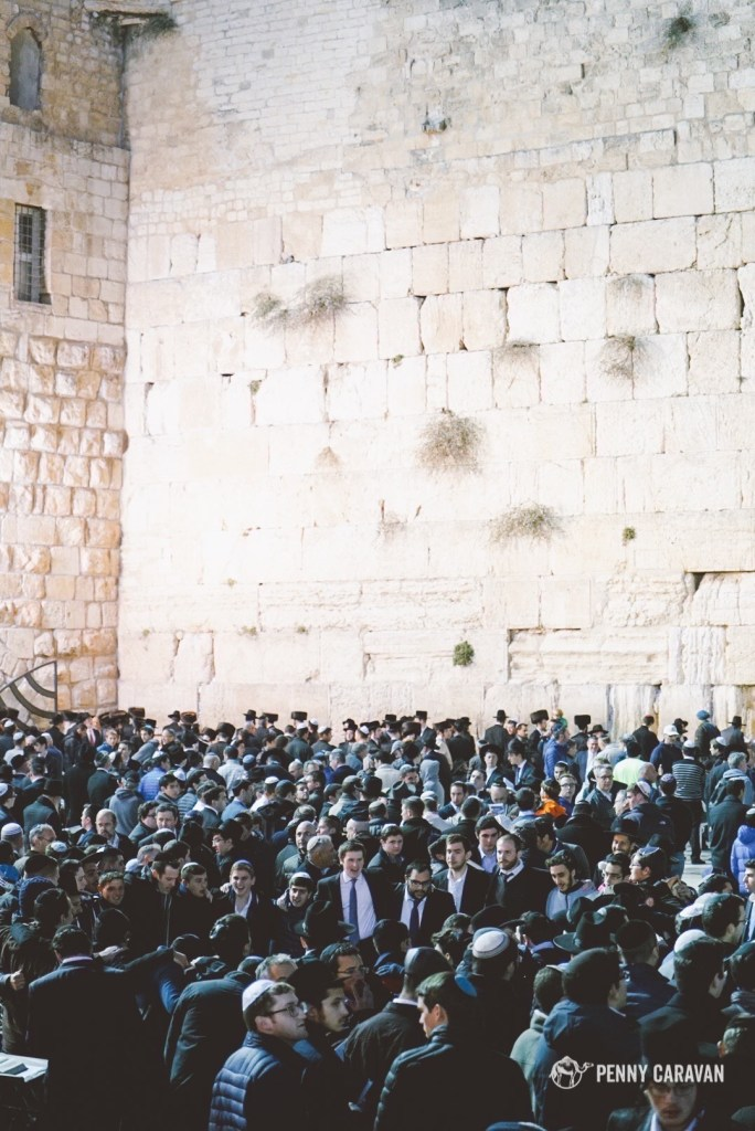The wall on the eve of Shabbat.