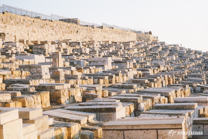 150,000 graves on the Mount of Olives.