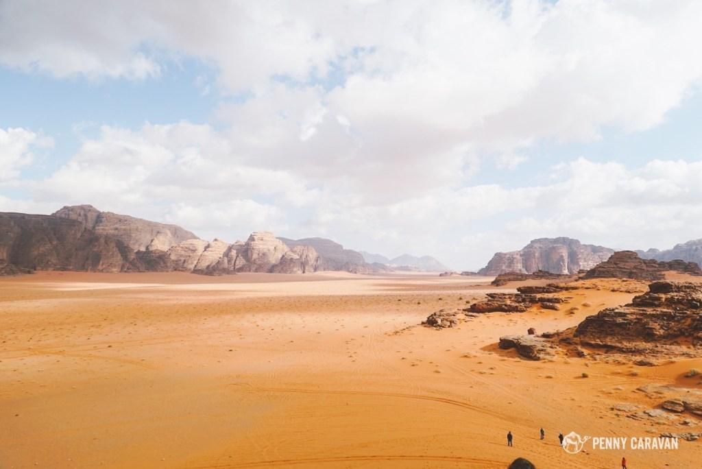 The magnificent desert of Wadi Rum.