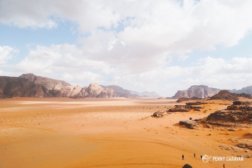 The magnificent desert of Wadi Rum.