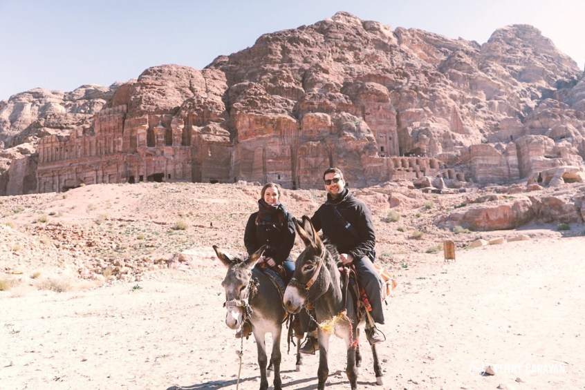 We caved and rode donkeys up the 800 steps to the Monastery.