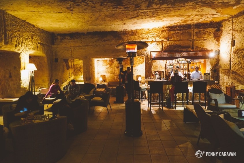 The Cave Bar.