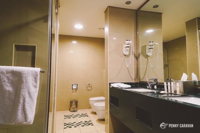 Bathroom in the Deluxe Room.
