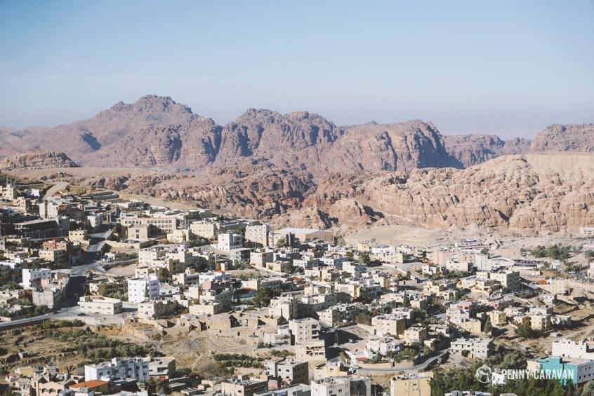 Modern town of Wadi Musa.