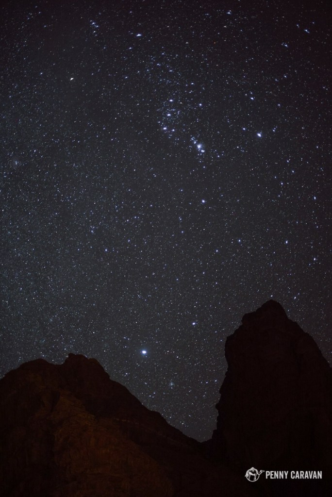 Wadi Rum is perfect for stargazing.