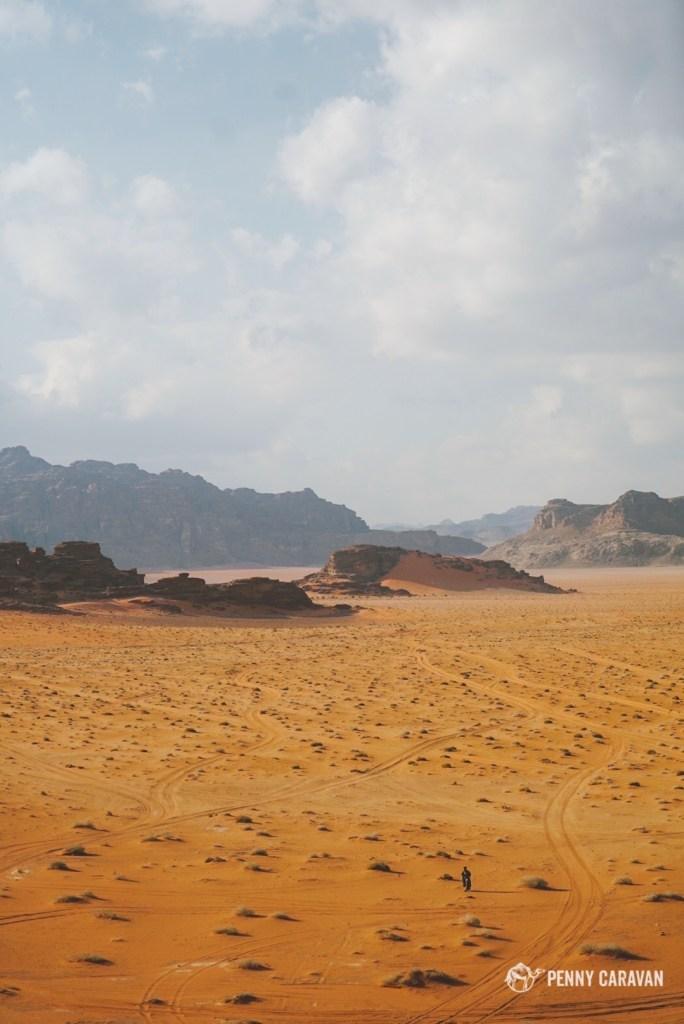 Lone bedouin wanderer.