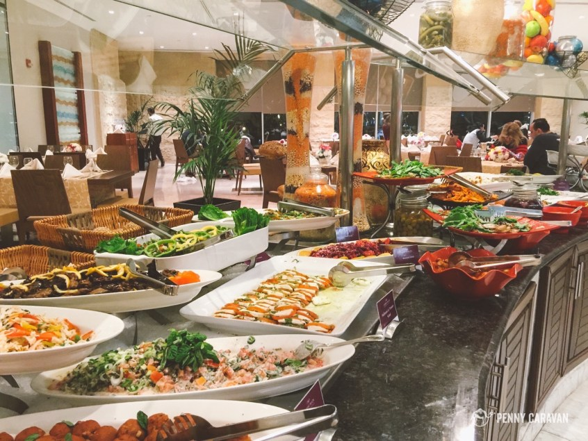 Part of the buffet at Ambrosia Restaurant.