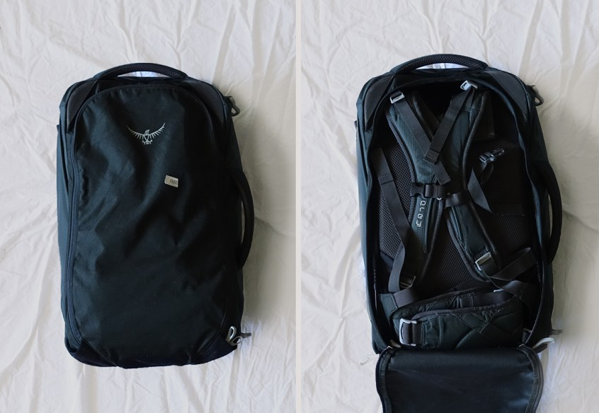 Best of both—suitcase and backpack.