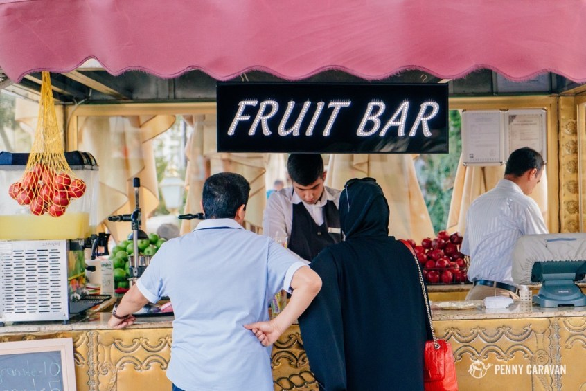 These fruit juice stands are everywhere and make the best fresh squeezed pomegranate juice!