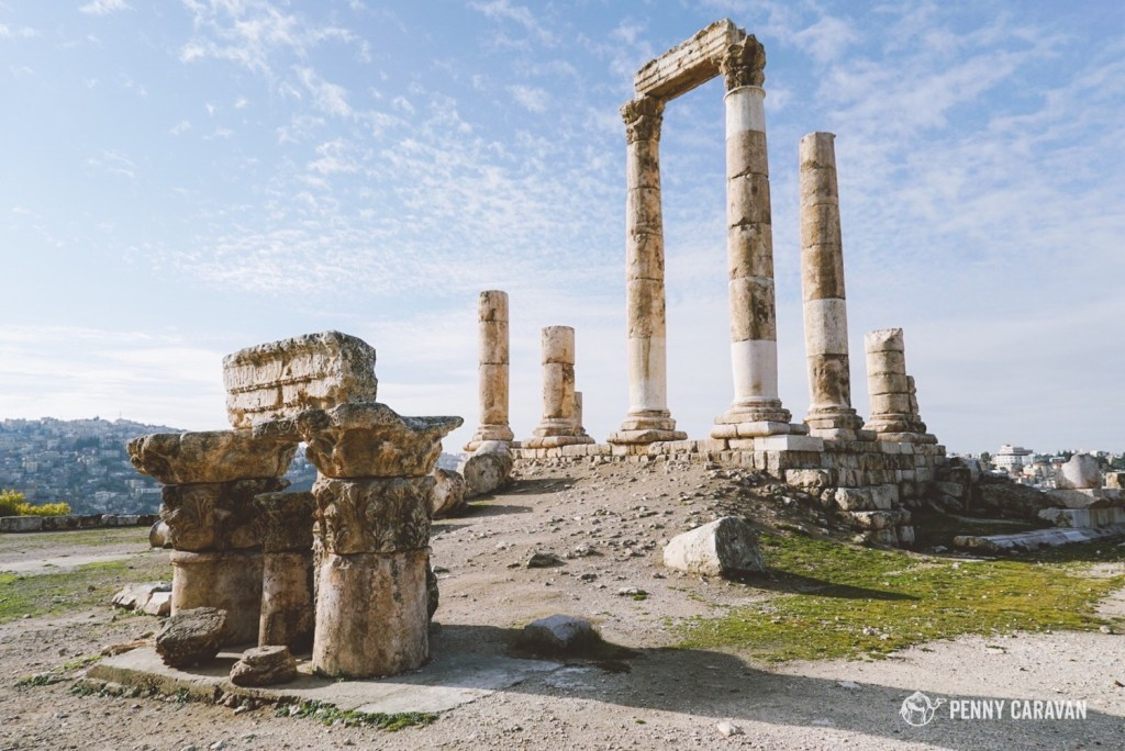 The ruins of the temple of Hercules.