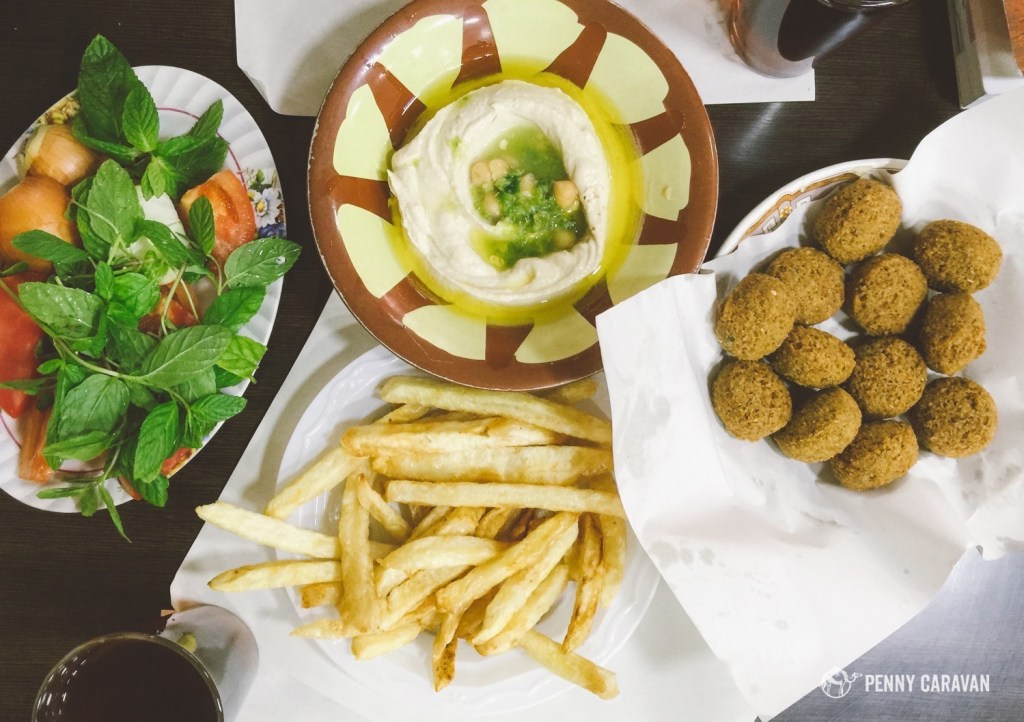Quick stop for the best falafel in Amman at Hashem Restaurant.