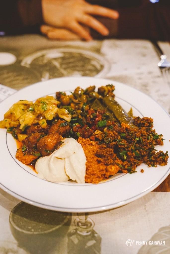 Mezze plate at Ciya Sofrasi.