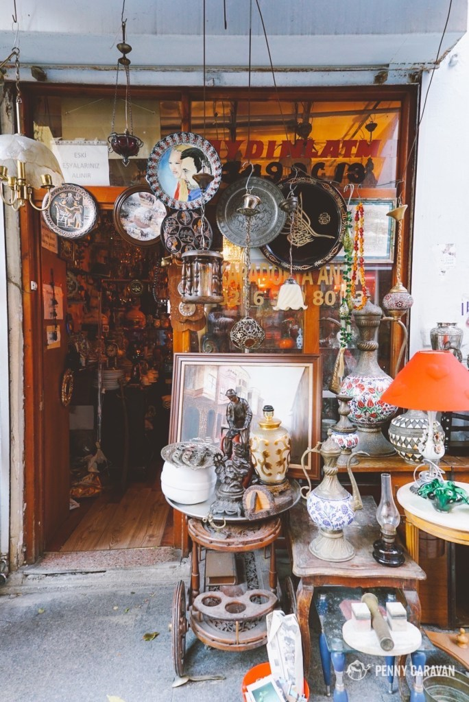 Antique street in Kadikoy.