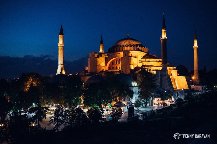 View of the Aya Sofya from the rooftop.