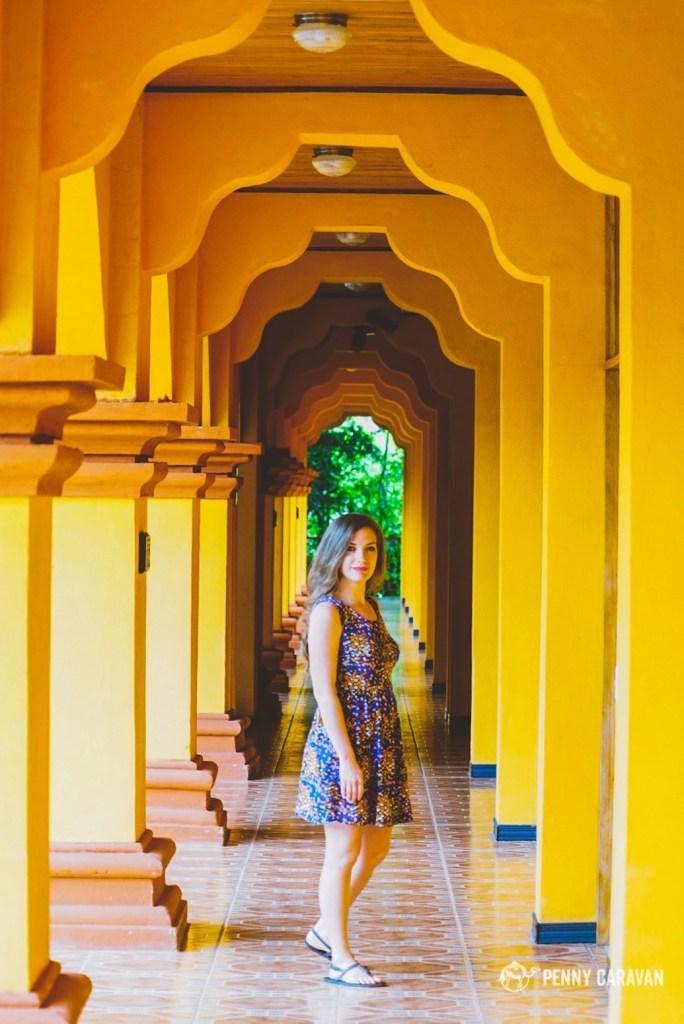 I loved the yellow hallways!