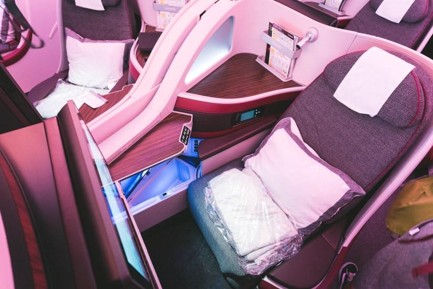 Qatar A350 BOS-DOH-13