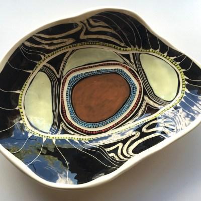 #662 Gorrogarah Binjdil Teatree ceramic Platter