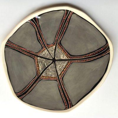 #718 Overcast Spirit Dreaming Plate