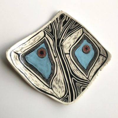 1122 Blue Diamond Butterfly wall piece