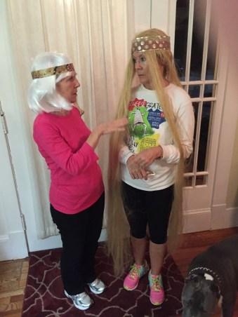 Lady Godiva and hippy ready for Winship 5k
