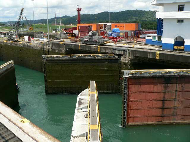 Gatun Locks on the Caribbean Side